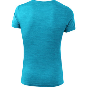 Löffler Merino T-shirt à motif Femme, topaz/melange